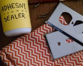 DIY Kit – craft kit – decorative switch plate – fabric – room decor
