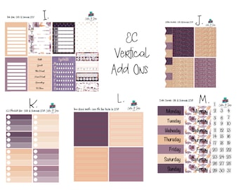 Glitz & Glamour Add Ons Planner Stickers