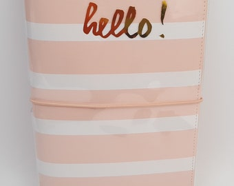 Travelers Notebook Blush Stripe by Webster's Pages Color Crush