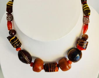 A brown artistic necklace