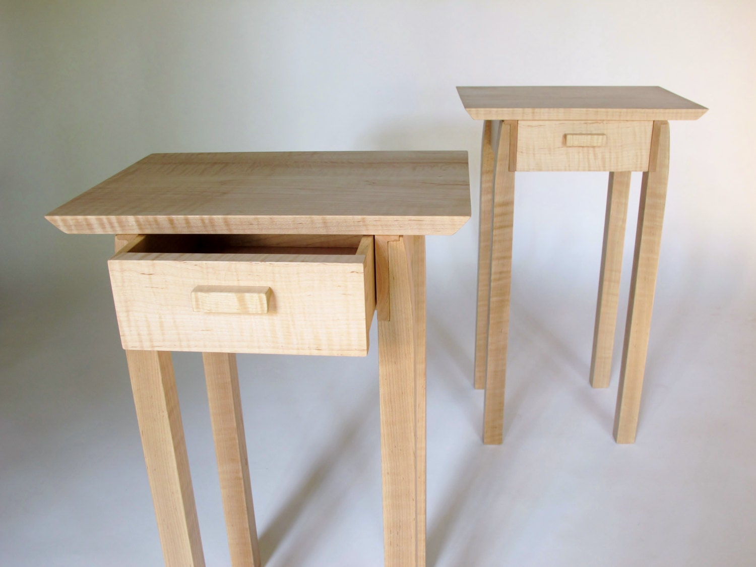 pair of nightstands small bed side tables set of narrow end. Black Bedroom Furniture Sets. Home Design Ideas