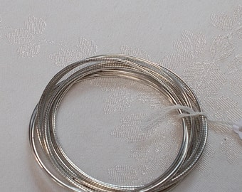 Costume Silver Tone Multi-Connected Bangle Bracelet.  (824)