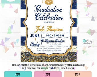 Graduation Party Invitation, Graduation Party