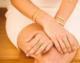 Gold Bracelet for Women, Boho Gold Bracelet, Thin Gold Cuff Bracelets for Women, Gold Open Cuff Bracelet, Gold Thin Bracelet