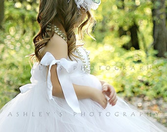 White Tulle Dress by Atutudes