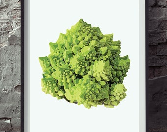 Vegetable print Vegetable poster Vegetable art Vegetable wall art Kitchen poster kitchen print kitchen art A3 print, A4 print