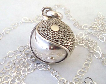 16mm Mexican Bola Sterling Silver Maternity Pregnancy Harmony ball Chime Necklace with/without chain CN6