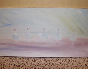 """5 Dancing Ballerina Acrylic Wall Art 20""""x10""""x3/4"""""""