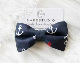 Men's Bow Tie Pre-tied Bow Tie For Men Boy - Anchor Bowtie Nautical Bow Tie Navy Blue Bow Tie - Groom Groomsmen Men Gifts Wedding Gifts