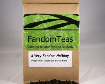 A Very Fandom Holiday - Peppermint Chocolate Black Tea Blend
