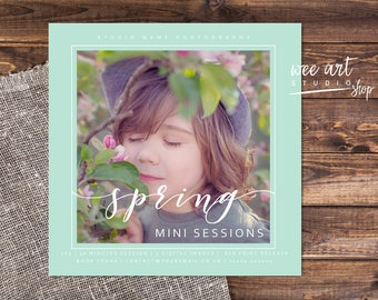 Photography Spring Mini Session Template for Photographers 5x5, White