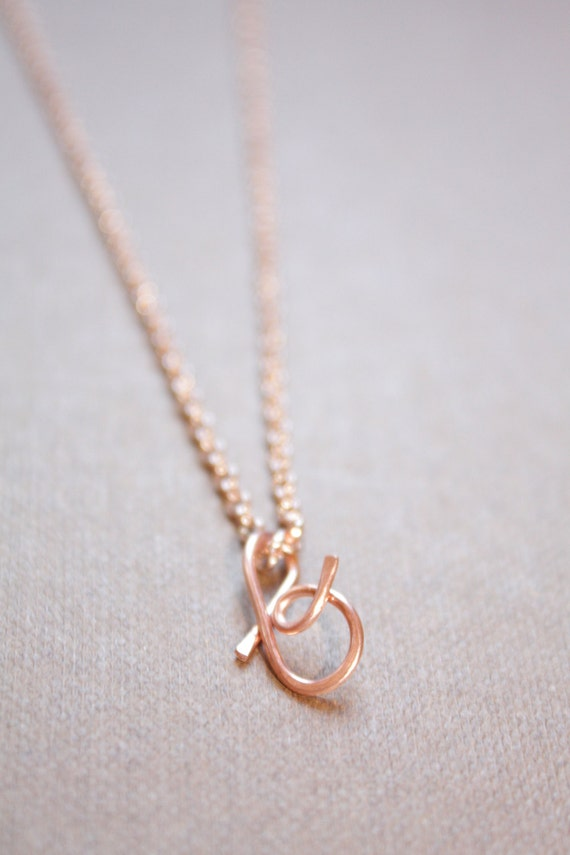 Letter B Necklace Silver Gold Rose Gold Initial Necklace