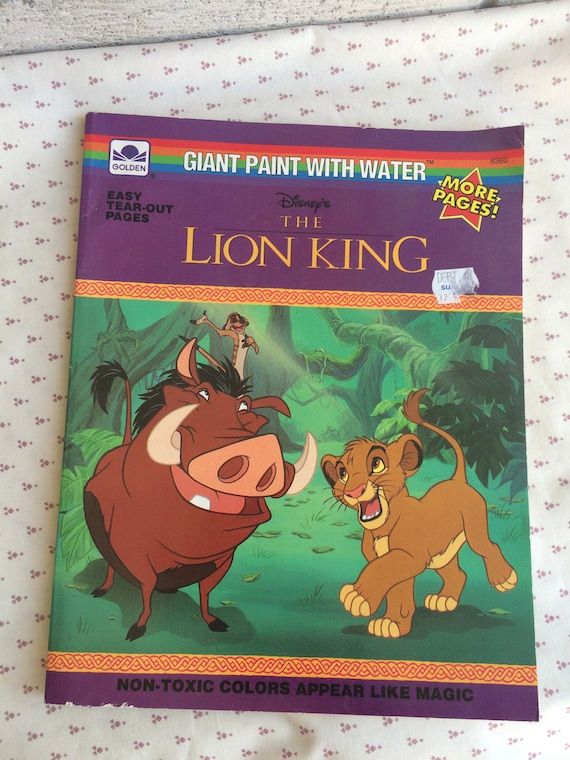 Disney\'s The Lion King Book The Lion King Giant Paint