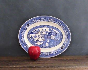 "Blue Willow Ware Homer Laughlin 13.5"" Platter, Willow Ware Platter, Farmhouse Decor"