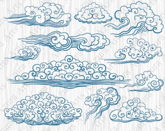 Blue Cloud,Blue wave,Drawn Wind,Hand-drawn clouds,Painted by hand wave,Cloud cartoon,Cartoon wave,Blue curls,Drawn curls,Kids Clipart,Blue