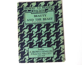 Vintage Beauty and the Beast 16 Page Illustrated Book