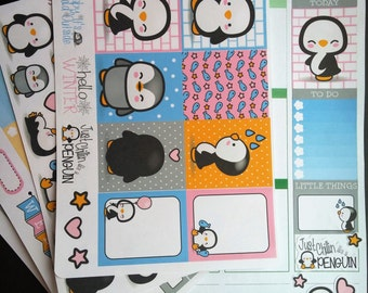 Kawaii Penguin Weekly Planner Kit!  Available for Erin Condren Life Planner or MAMBI/Happy Planner