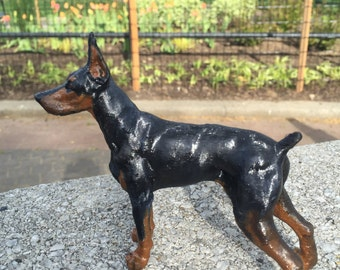 Custom Doberman Pinscher Sculpture | 3D Printed & Hand-painted | Pet Portrait Dog Statue Figurine Memorial | Doberman Art Collectibles