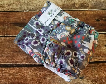 One Size Pocket Cloth Diaper Llama Land 15-40 lbs PUL