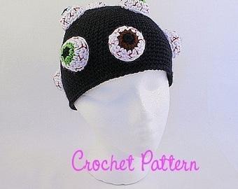 Crochet Pattern: Eyeballs Beanie