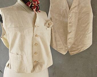 Rare antique waistcoats, edwardian, victorian waistcoats, summer waistcoats, gatsby style, colonial style...CHARMANT!