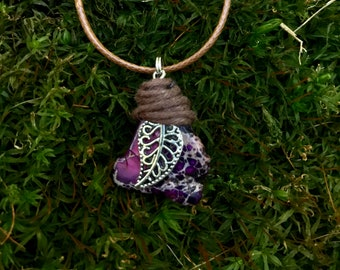 Purple Jasper Leaf Necklace