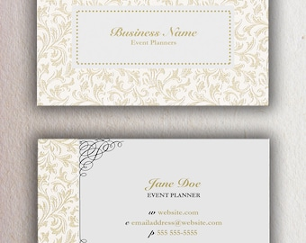 Event Planner Custom Business Card Template