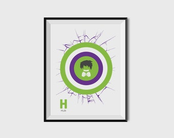 Incredible Hulk 2.1 Print - Minimalist, Marvel Comics, Comic Print, Avengers, Superhero Wall Art