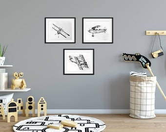 Airplane Nursery Decor Airplane Nursery Art Boy Nursery Art Boy Vintage Airplane Nursery Art Airplane Nursery Wall Art Airplane Boy Bedroom