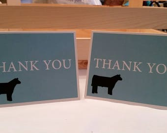 Show Steer Thank You Cards