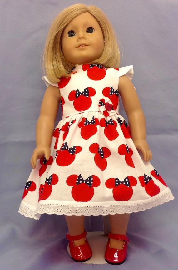 Mickey Mouse Dress American Made 18 Inch Doll Clothes