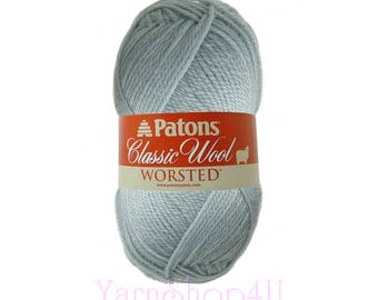 SEAFOAM Patons Classic Wool yarn. Light Mint Color. This Classic Paton's Yarn is 100% wool yarn; excellent choice for felting. 3.5oz 100g √
