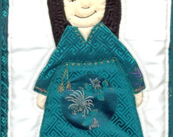 International Adoption Quilt Patterns - Korean Girl