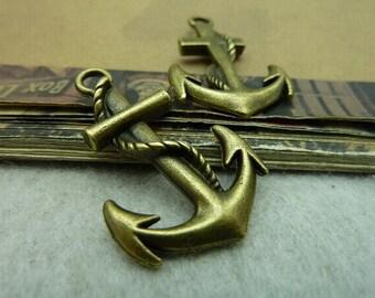 10pcs 23x36mm The Anthor Antique Bronze Retro Pendant Charm For Jewelry Bracelet Necklace Charms Pendants C6253