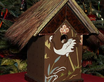 BH20-Aloha Stork house, Decorative Interior only birdhouse