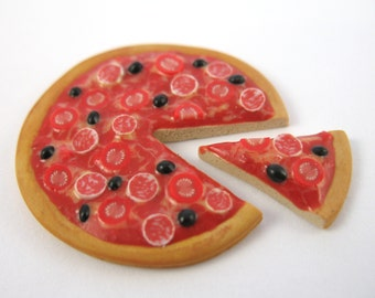 Dollhouse Miniature Food Pizza in 12th Scale