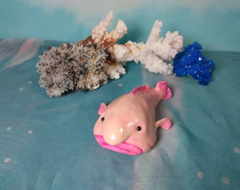 Blobfish sculpture, blob fish sculpture, Blobfish figurine
