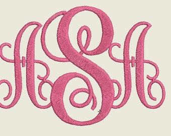 Monogram embroidery design, 3 Letters monogram, monogram embroidery download, Intertwined monogram embroidery font,monogram embroidery Font