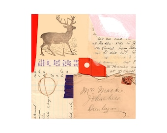 Amalgam 2. Open Edition Print. Vintage Theme.