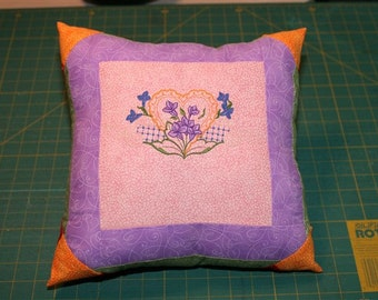 Heart Embriodered Pillow, Throw Pillow, Home Décor, Living Room, Bedroom, Couch, Cushion, Decorative Pillow