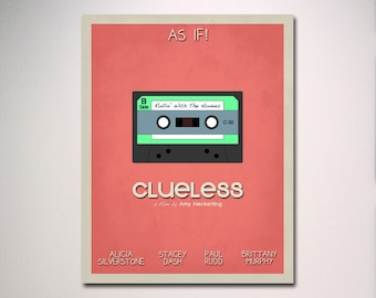 Clueless Inspired  Minimalist Movie Poster