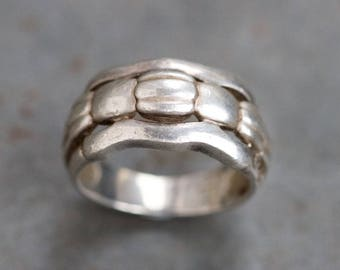 Chunky Ring in Sterling Silver - Ring Size 7 1/5