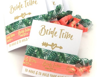 Palm Trees | Summer Bachelorette Party | Tropical Favors | Bachelorette Cruise | Bachelorette Party, Bride Tribe Hair tie Favor | Palm