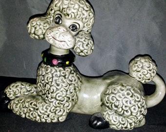 Vintage Atlantic Mold Co Ceramic Poodle
