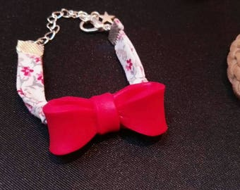 Liberty bracelet cherry red bow