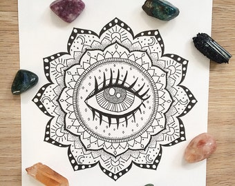 Third Eye Original Mandala Design