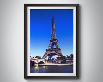 Paris Photography - Eiffel Tower as seen from La Seine