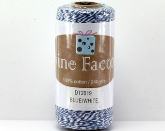 Blue Bakers Twine 240 Yards Full Spool 4 Ply