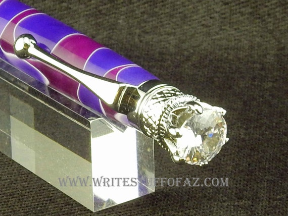 Mother's Day Purple & Lavender Twist Pen, Adorned with Swarovski Crystal