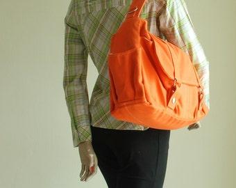 Etsy's 13th Birthday Sale 25% - Messenger bag Pico2 in Orange /Shopping Bag / Shoulder Bag /  School Bag/ Women bag / Gift For Her
